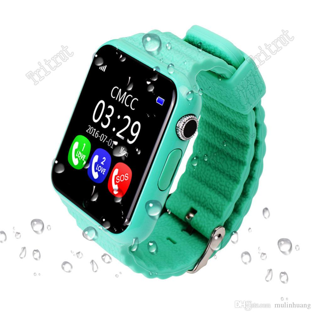 V7K Waterproof Kids GPS smart watch smartwatch kids Safe Anti-Lost Monitor Watches with camera SOS Call Location Device Tracker MQ10