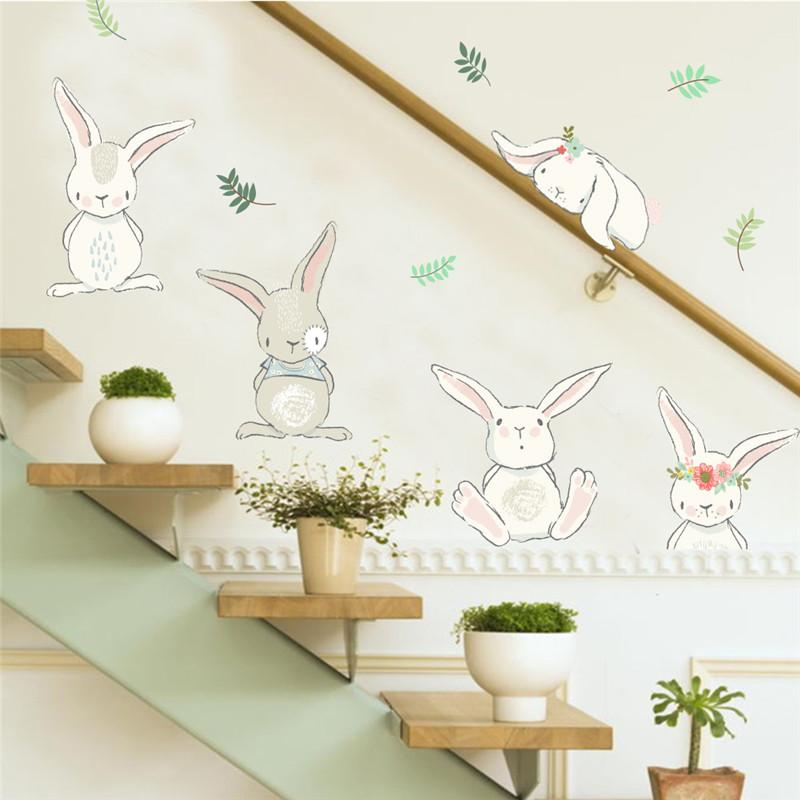 Cartoon Rabbit Balloons Wall Stickers For Kids Rooms Home Decor Wall Decals  Pvc Poster Diy Mural Art Home Decoration Kids Wall Decal Kids Wall Decals  From ...