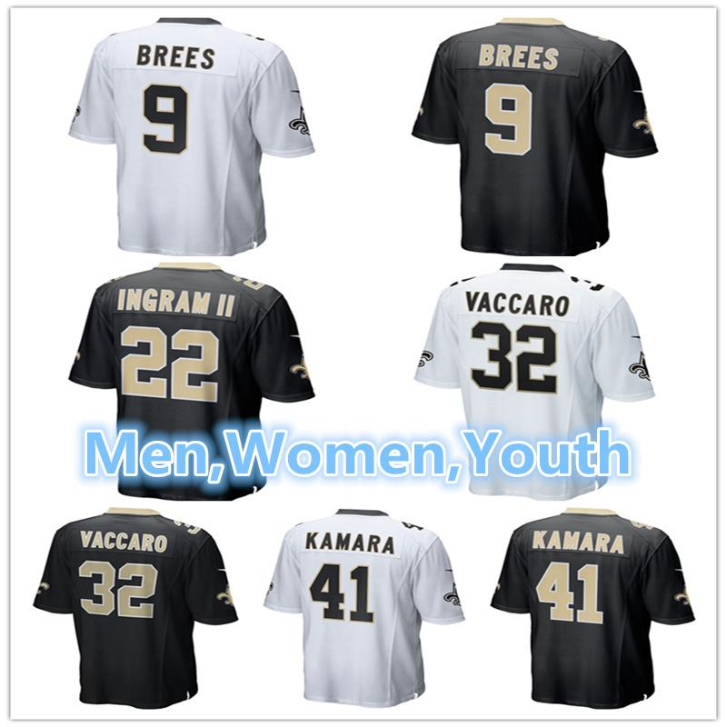 3b79a37be3e Men Women Youth New Orleans Saints Jerseys 9 Drew Brees 22 Mark ...