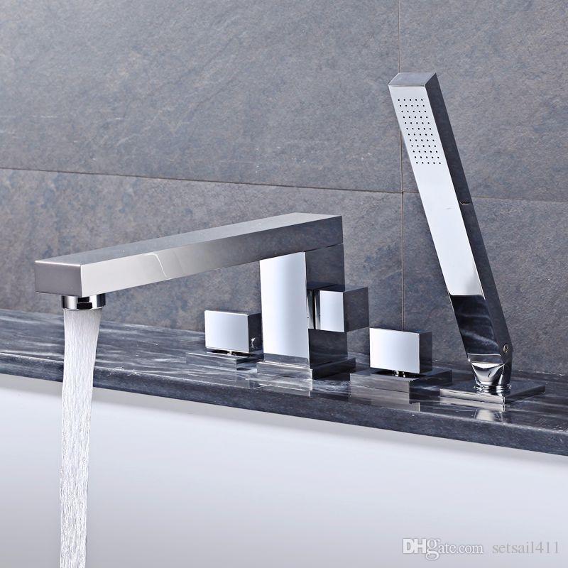 Bathroom Shower Faucets Tap Set Rainfall Brass Bath Faucet Mixer ...