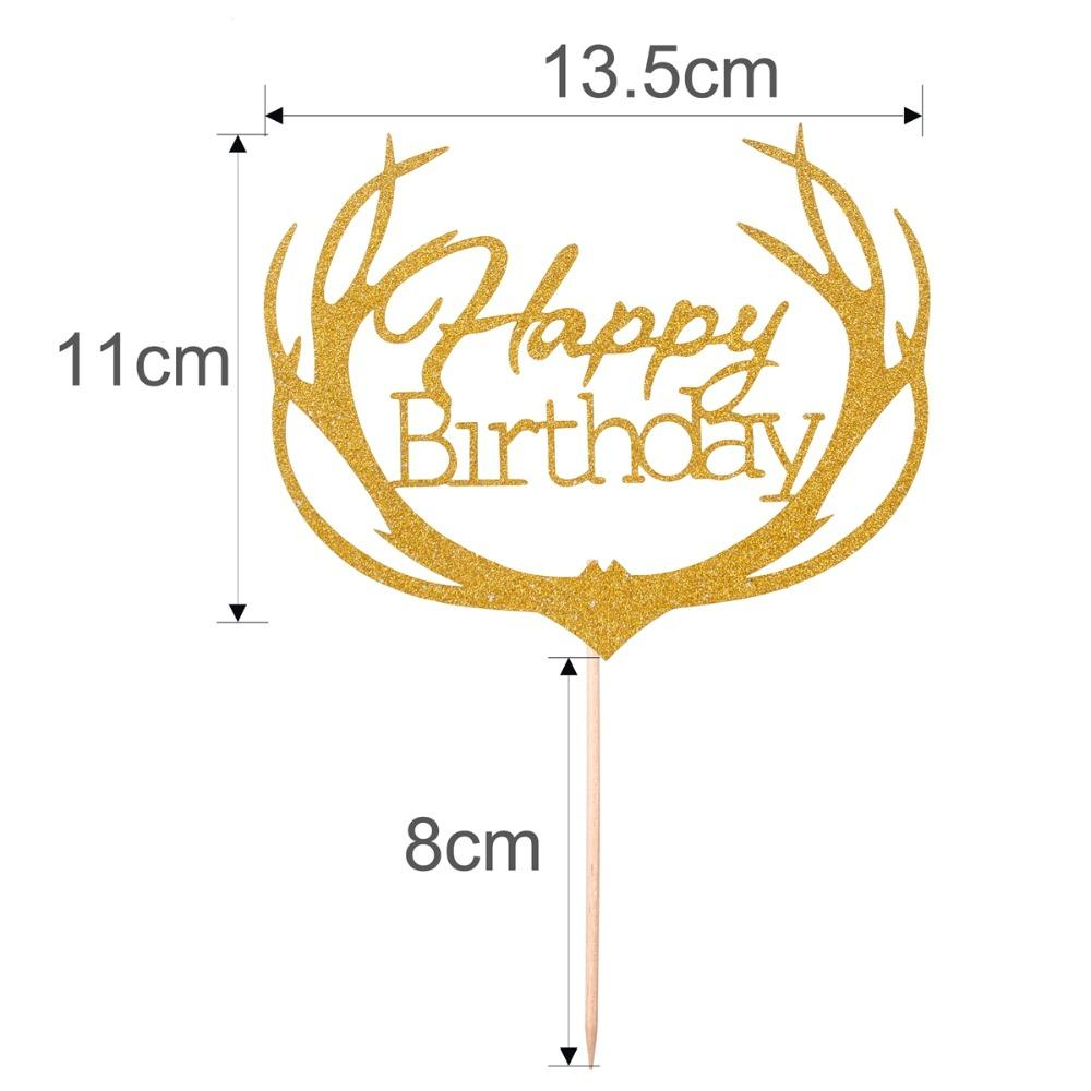 FENGRISE 1st Happy Birthday Topper Cake Gold Glitter Cupcake Toppers First Birthday Cakes Party Decorations Kids Baby Shower