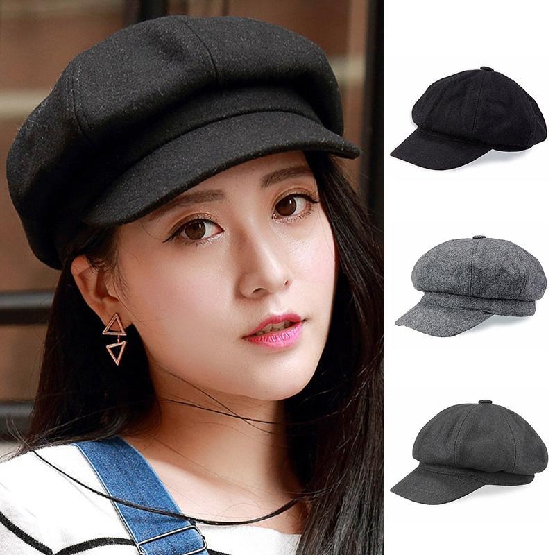 Women Girls Fashion Beret Hats Vintage Navy Hats Wool Casual Dome Caps  Boina Chapeu Feminino Gorras Para Hombre UK 2019 From Huazu a0a6244313d