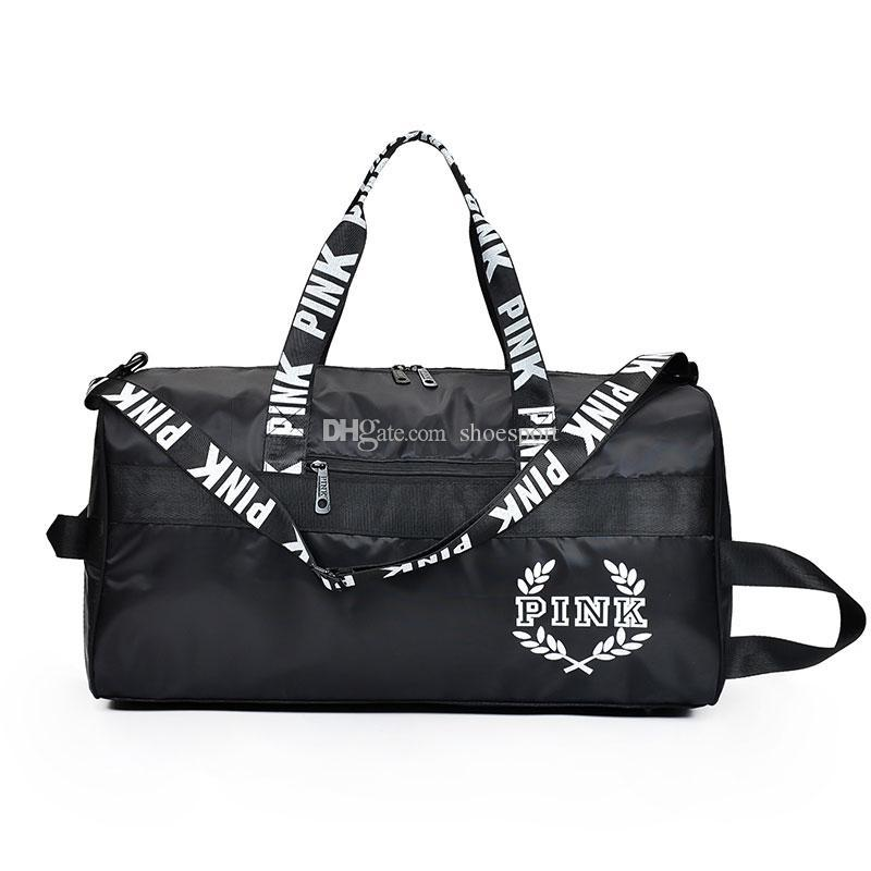 48a342f47 2019 PINK Letter Duffle Gym Travel Bag Outdoor Tote Large Capacity Sport  Bags Shoulder Handbags From Hdquping, $14.72 | DHgate.Com