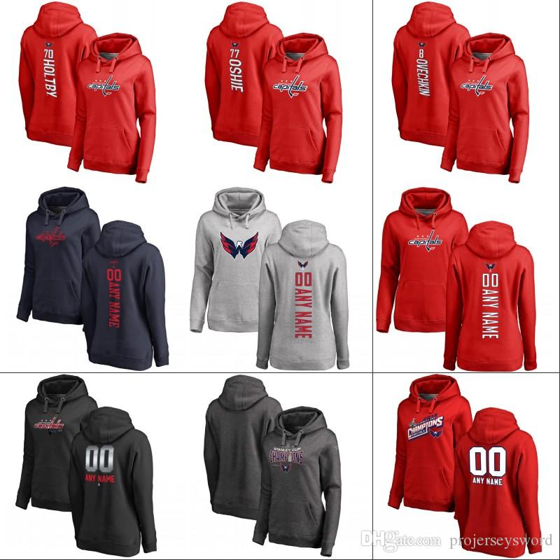 huge selection of 824a1 d5a5d Womens Washington Capitals Hoodie 2018 Stanley Cup Champion Patch Alex  Ovechkin Nicklas Backstrom Tom Wilson T.J. Oshie Hockey Jerseys