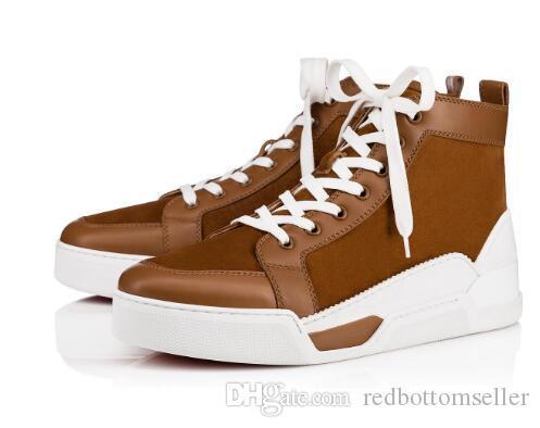 7941b482e38 New Sports Sneaker Men Red Bottom Shoes Rankick Flat Genuine Leather ...