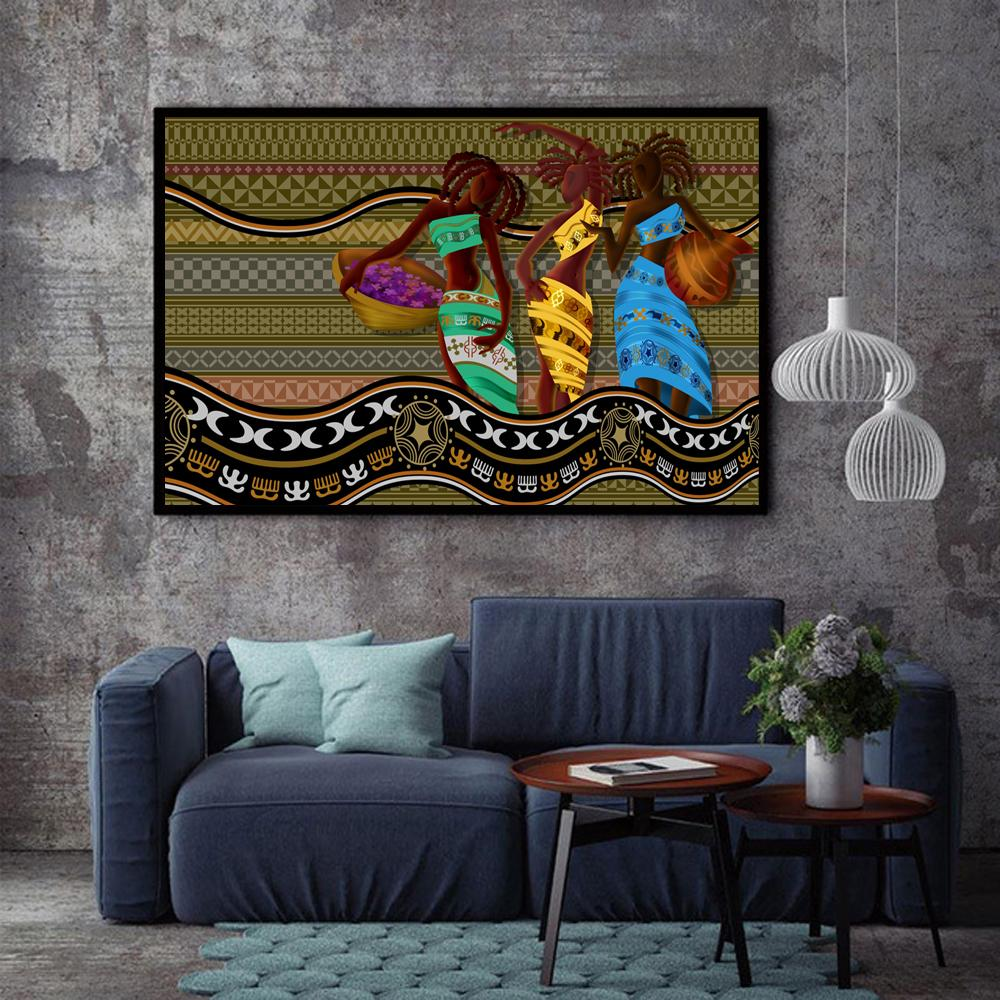 Black Art Wall Paintings: 2019 XX3216 15 Wall Art African American Black Abstract
