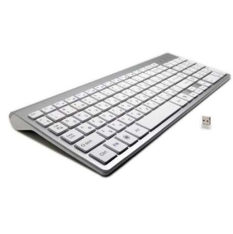 101 Keys Ultra-Thin Russian Keyboard 2 4GHz Wireless Mute Keyboard Teclado  Gamer for Mac Win XP 7 10 Android TV Box