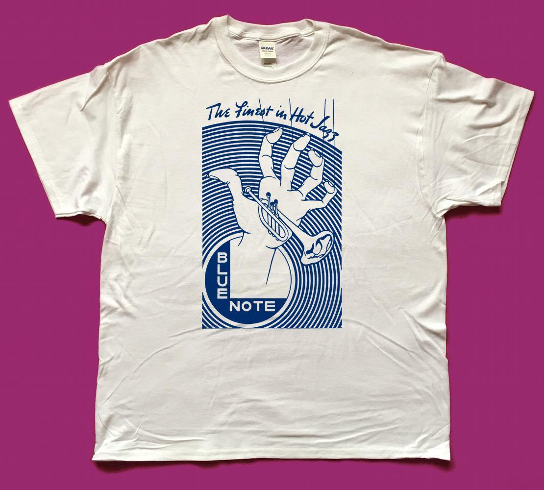 Blue Note The Finest In Hot Jazz Screenprinted Tribute T Shirt Print