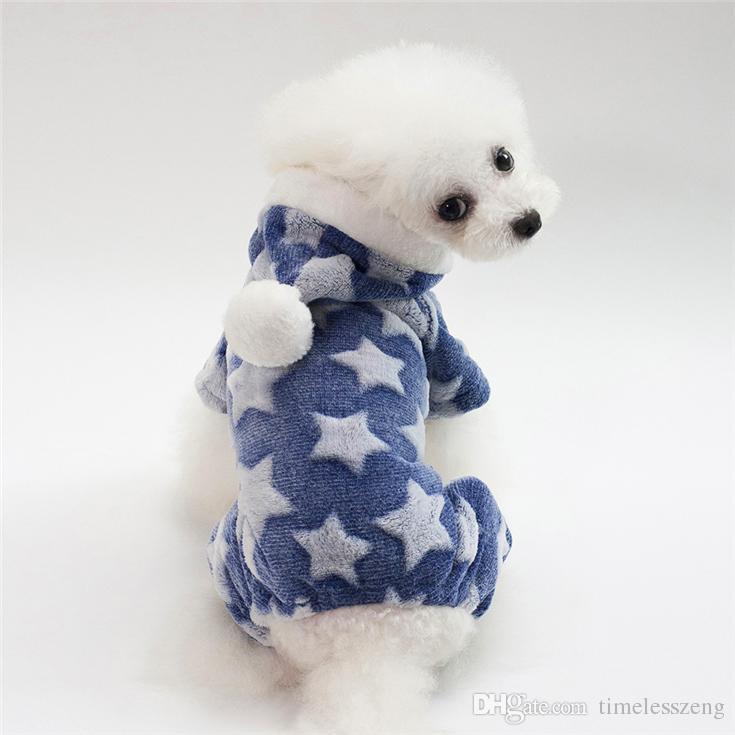 5 Boyut köpek kostüm moda yıldızı pet giysi yüksek quanlity oyuncak kaniş sonbahar kış sıcak köpek giyim 4 renk toptan