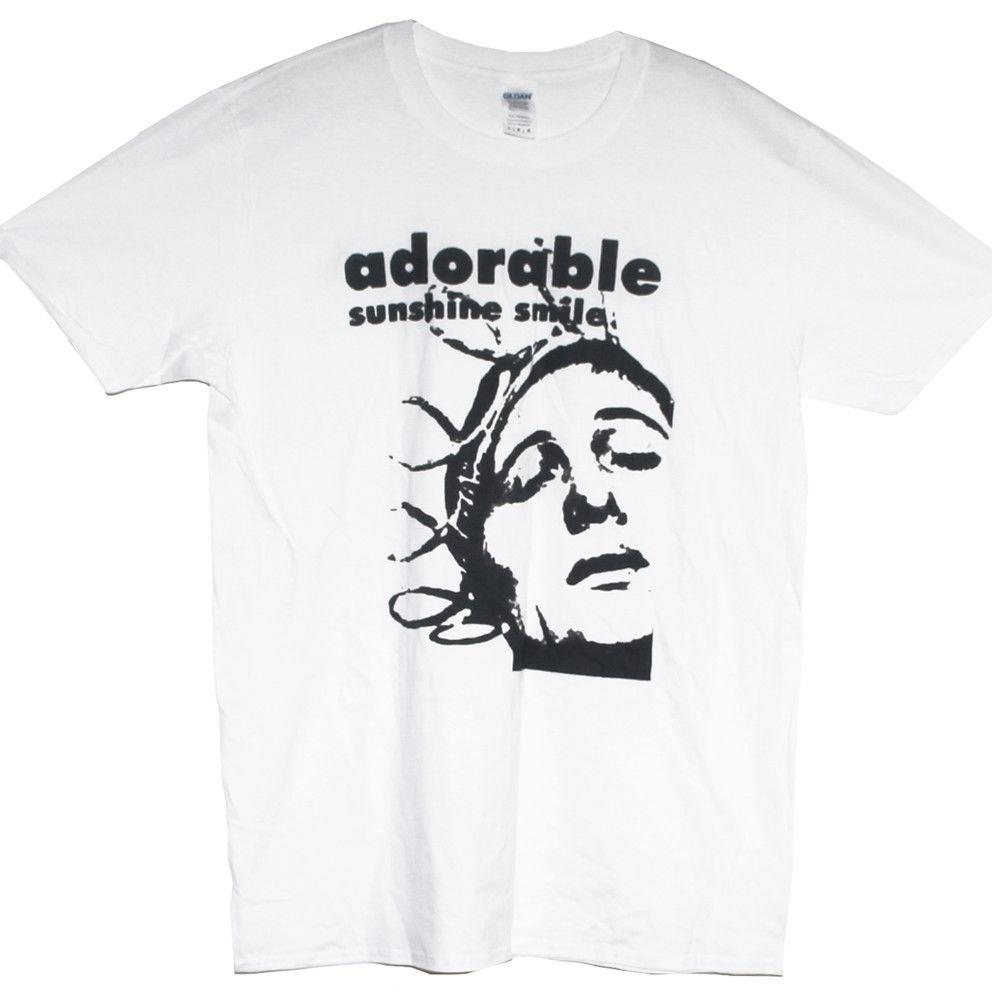 ADORABLE T SHIRT Sunshine Smile Shoegazing Alternative Rock Graphic Band Tee