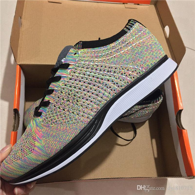 meet 38fb4 41059 Compre Nike Flyknit Lunar 1 + Running Shoes Zoom Mariah Fly Racer 2 Mujeres  Hombres Atlético, Todo Negro Rojo Verde Zapatos Casuales Tejer Zoom Racer  ...