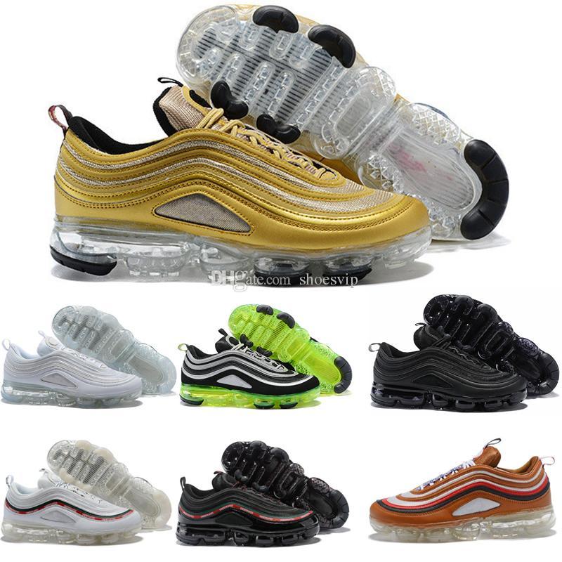 2018 New Vapor 97 OG Bullet Running Shoes Mens Womens Air Cushion ... c3d9b72a9