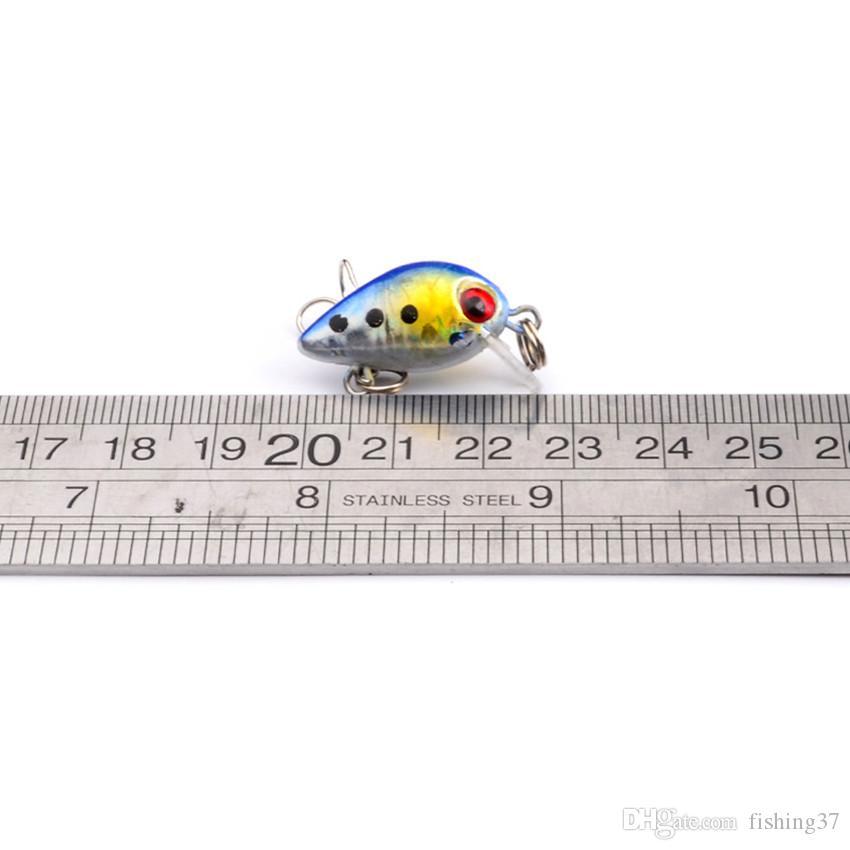 2.6cm 1.78g Crank Fishing Hooks Fishhooks 10# Hook Hard Baits & Lures Pesca Fishing Tackle Accessories B-009