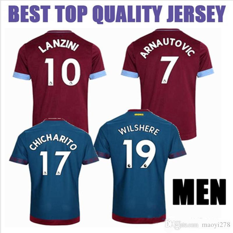 2018 2018 2019 West Ham United Soccer Jersey Arnautovic Lanzini Snodgrass  Noble Carroll Chicharito Ayew Home Away Custom 18 19 Football Shirt From  Maoyi278 3a722c2a9