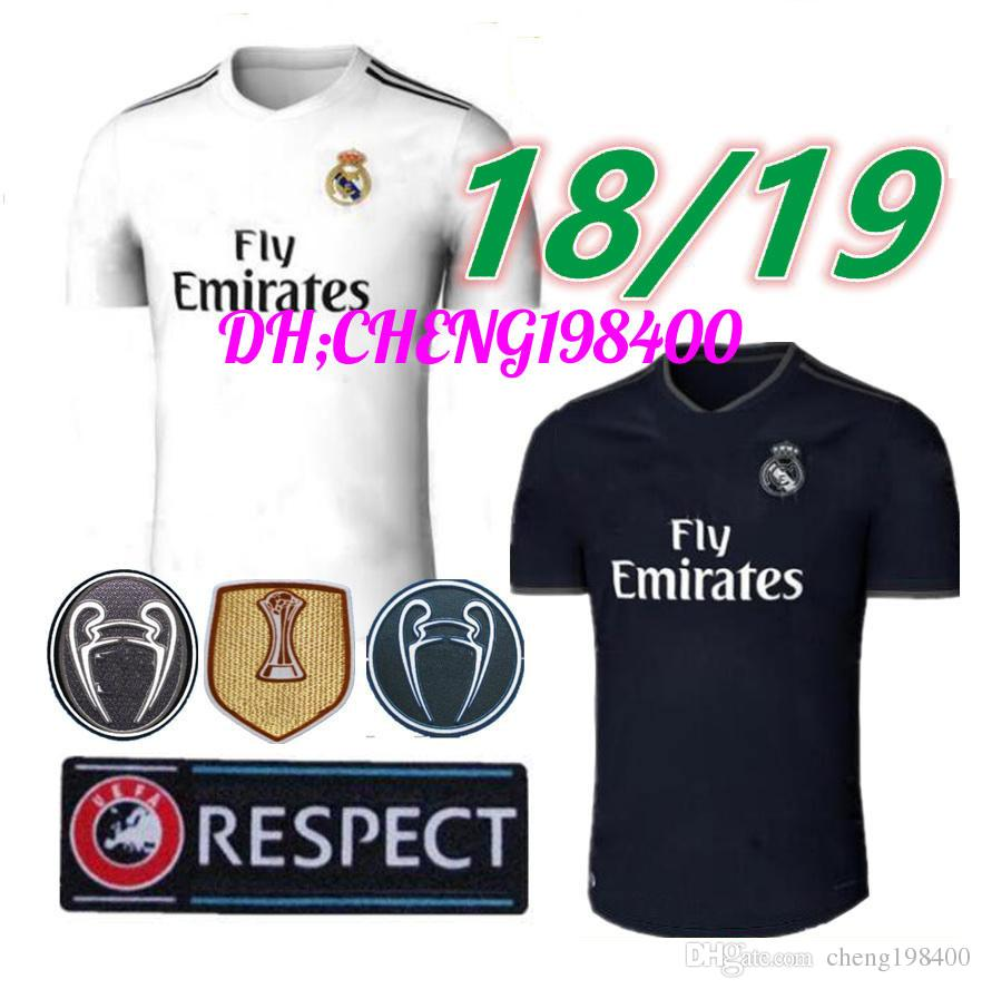 2019 2018 2019 Real Madrid Soccer Jersey Ronaldo Modric Kroos Sergio Ramos  Bale 2018 2019 ASENSIO ISCO Football Shirt Champions League Uniform From ... 566dd67d1