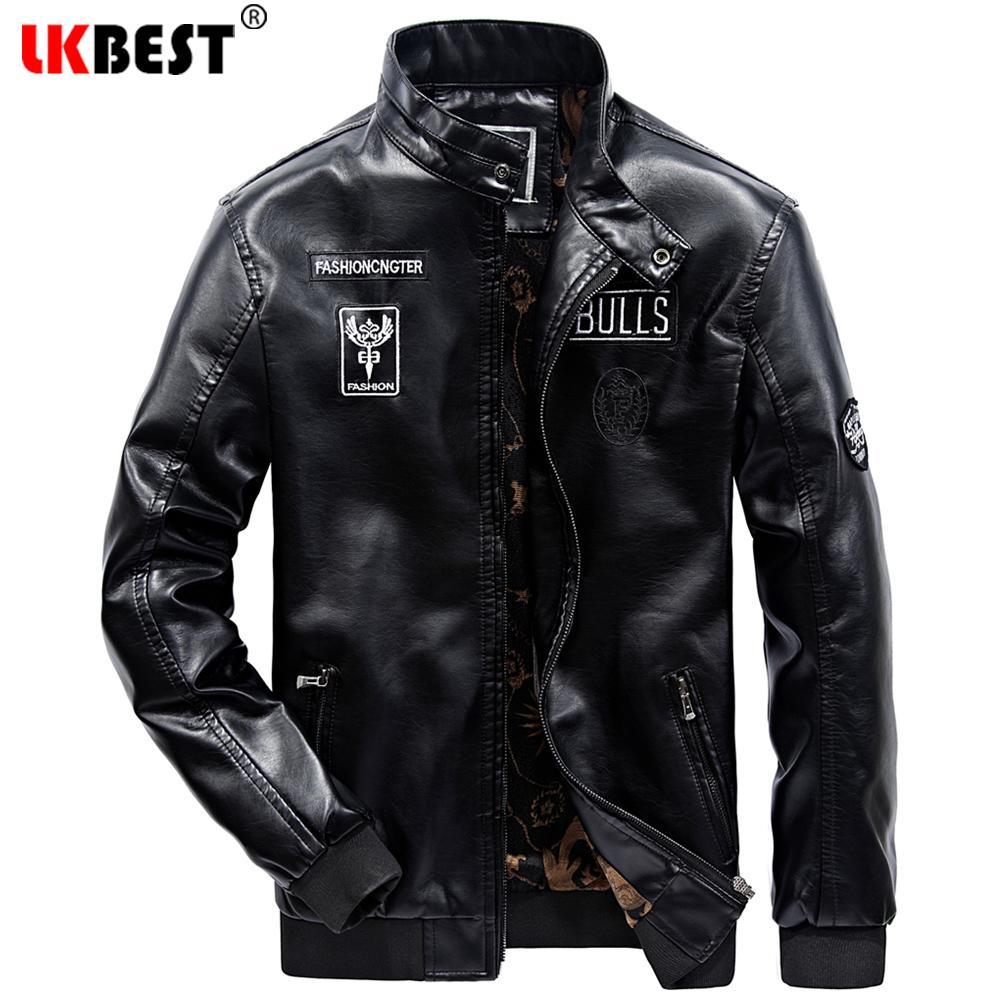 eda5dc83c49 2019 LKBEST 2017 Men S Leather Jacket Warm Washed Homme Motorcycle Jacket  Fashion Leather Biker Outdoors Parka PY45 From Beasy114