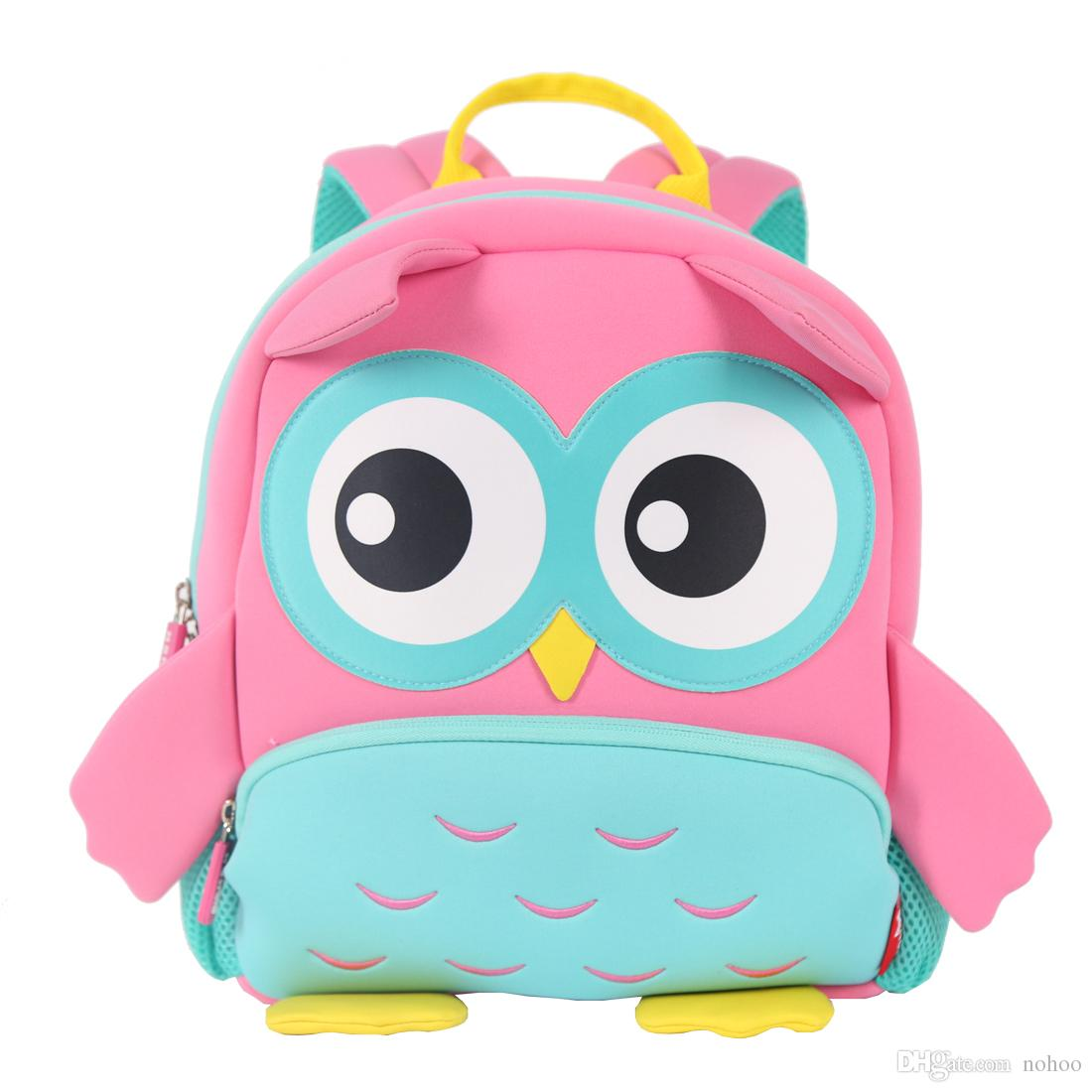 706c06d8cc NOHOO New Arrival High Quality Neoprene Owl Kids Backpack Travelling  Children School Bag Best Gifts For Kindergarten Ergonomic Backpack Kids  School ...