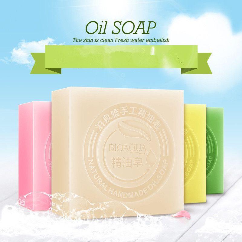 BIOAQUA Bamboo Charcoal Soap Blackhead Remover Trattamento dell'acne Fatti a mano Pulizia del viso Sapone Cura della pelle Pulizia profonda Viso Lavata