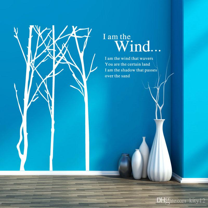 New Large Tree Branch Words Wall Stickers Removable Decal Home Decor Vinyl Art Mural