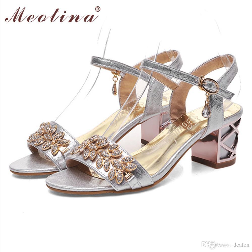 Wholesale-Meotina Shoes Women Sandals Luxury Bridal Shoes Summer ... 838145464d15