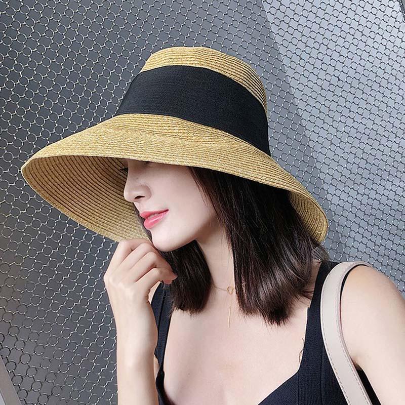 e84c0ed45cc MAXSITI U Straw Hat Female Summer Retro Bow Wild Bucket Hats Cap Beach Hat  Travel Sunscreen Fisherman Bucket Hats Cheap Bucket Hats MAXSITI U Straw Hat  ...