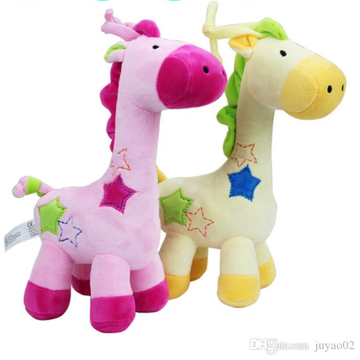 2019 New Cute Giraffe Plush Toy Music Box Play Music Doll Children