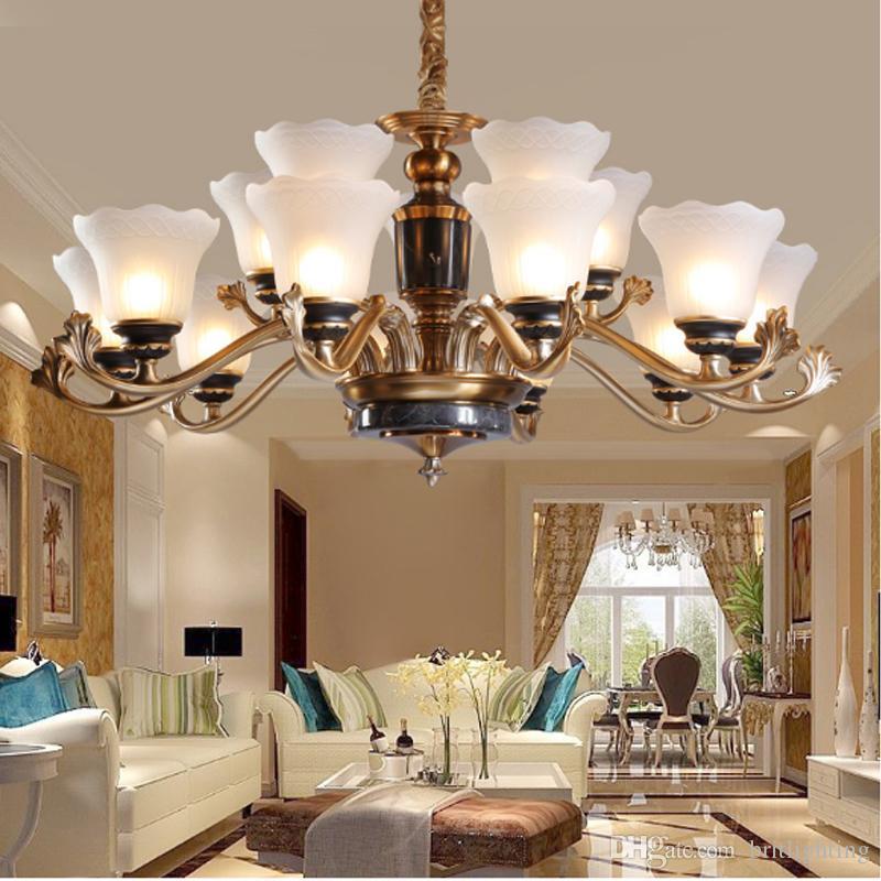 Led Chandeliers Living Room Jade Lamp Modern Restaurant Bedroom Study Candle Light Stained Glass Chandelier Pendant Long Designer