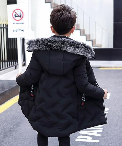 94361766e0f5 Children S Clothing Winter Boy Coat Long Section Thicken 2018 Winter ...