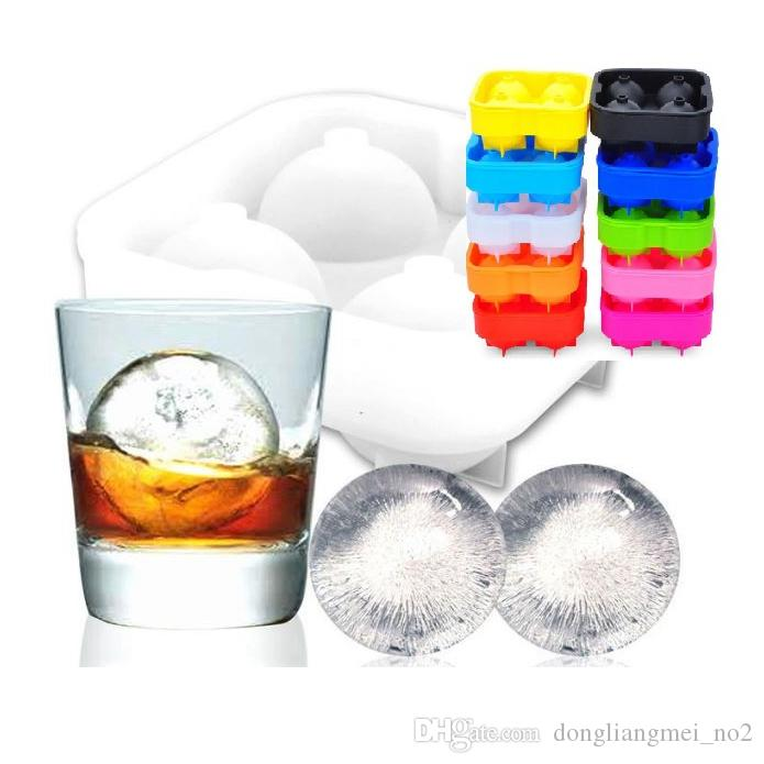 DLM2 Ice Cube Ball chocolate candy ice cream Tray Brick Round Maker Mold Sphere Mould Party Bar wn068