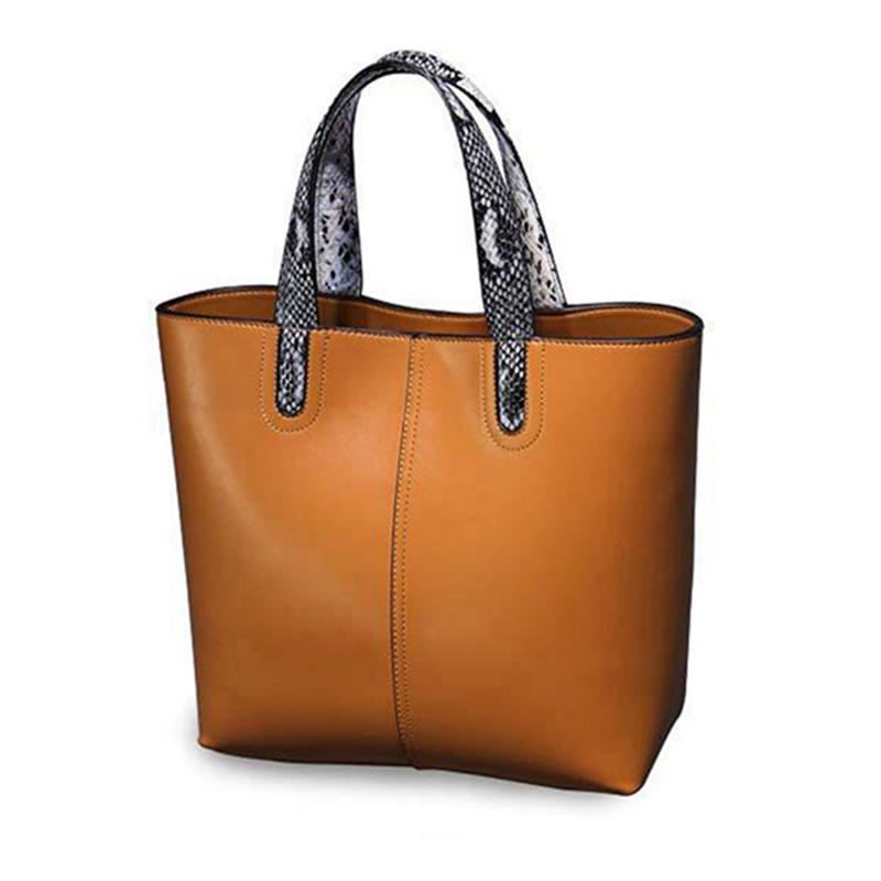100% Genuine Leather Luxury Handbags Women Bags Designer Women ... 42bda0df7c03c