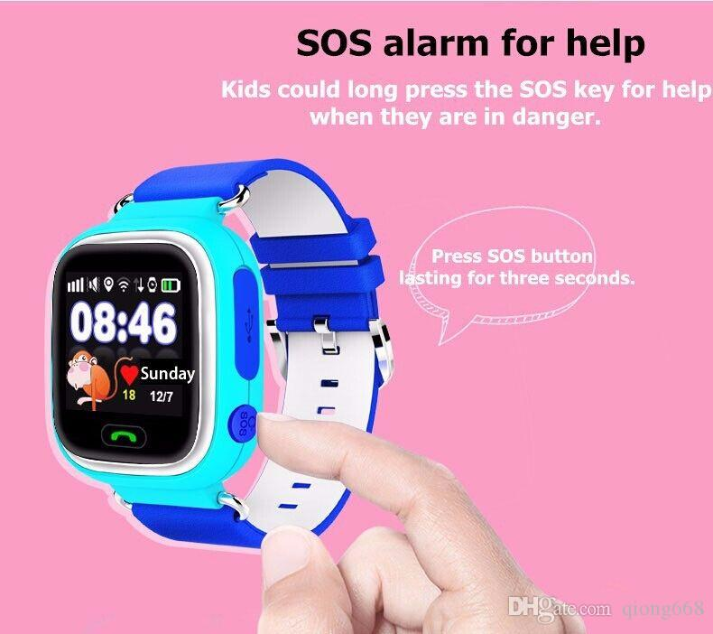 DHL Q90 GPS smart watch baby watch with Wifi touch screen SOS Call Location DeviceTracker for Kid Safe Anti-Lost Monitor