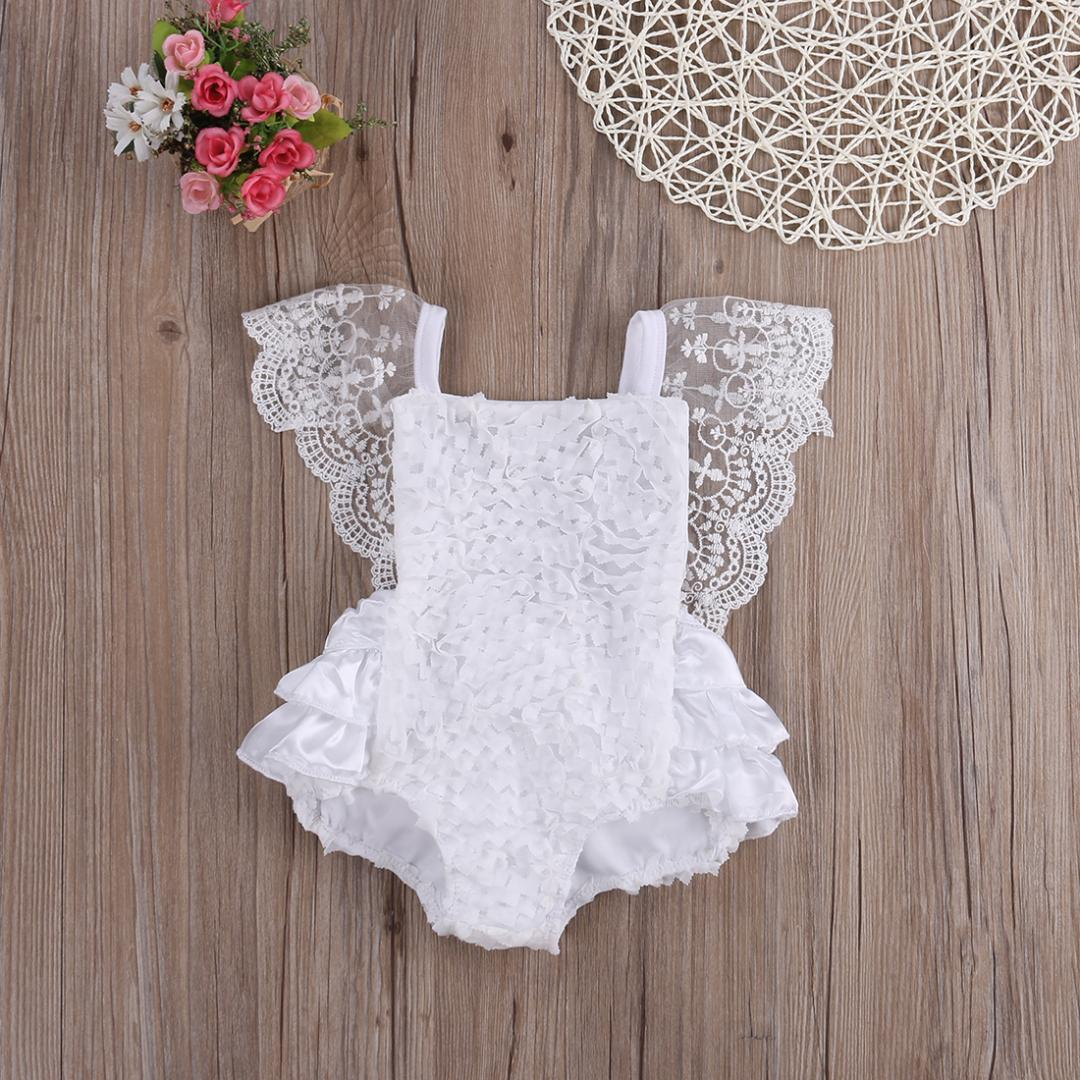 3d25b231176a28 2019 Baby Girl Clothes Lace Floral Bodysuit Sunsuit Outfits Lovely White  Lace Baby Bodysuits 0 18 Months For Birthday Party Bodysuits From  Universecp, ...