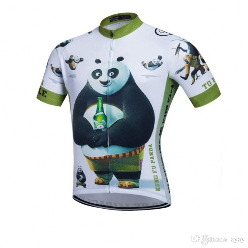 22917ee25 KongFu Panda Cycling Jersey Mens Funny Summer Short Sleeve Quick Dry  Clothing MTB Ropa Ciclismo Bicycle Maillot Only Cycling Gloves Womens  Shirts From Ayay
