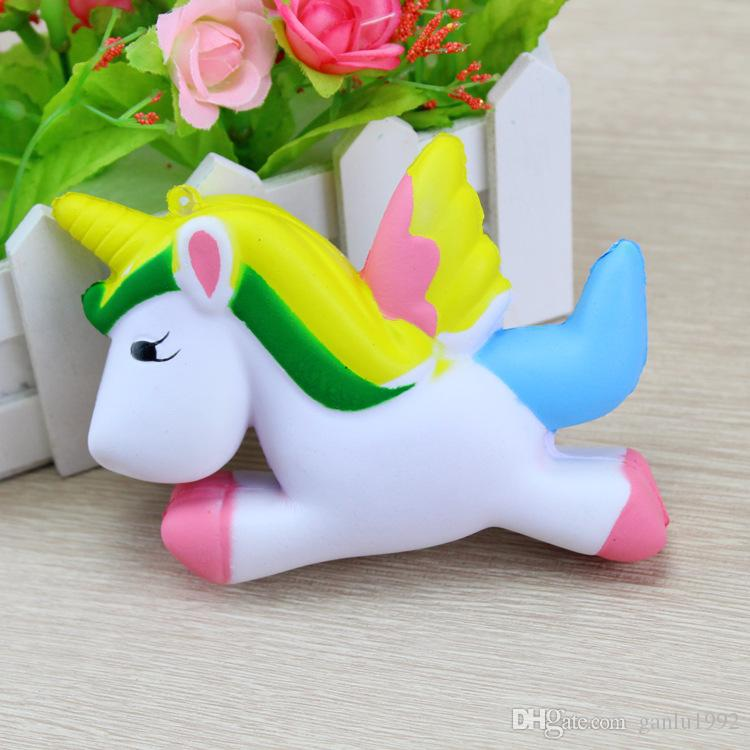 Unicorn Squishies Phone Straps Charm Pendant Squishy Decompression Toys Children Play House Toy Gifts 7 5rf CR