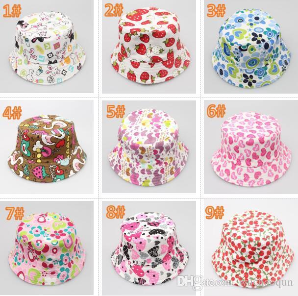 378699a4f1c 2019 Children Bucket Hat Casual Flower Sun Printed Basin Canvas Topee Kids  Hats Baby Beanie Caps From Wuchaoqun