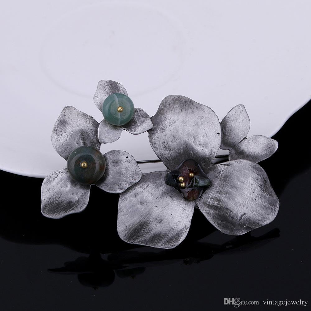 Мода личность элегантный Клевер бутоньерка одежда аксессуары Подарок для женщин и мужчин YP3289