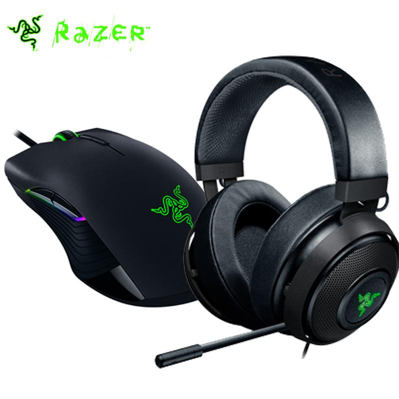 Razer Lancehead Tournament Gaming Mouse + Razer Kraken 7.1 Chroma V2 Gaming Headset con microfono digitale retrattile