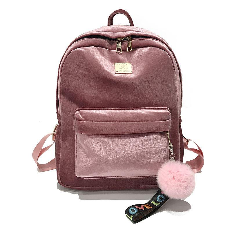 ac5792c62f 2018 New Best Soft Velve Backpack Female Girl School Travel Bag Women  Backpack Shoulder Bag Female Rucksack Bagpack Mochila Rucksack Jansport  Backpacks From ...