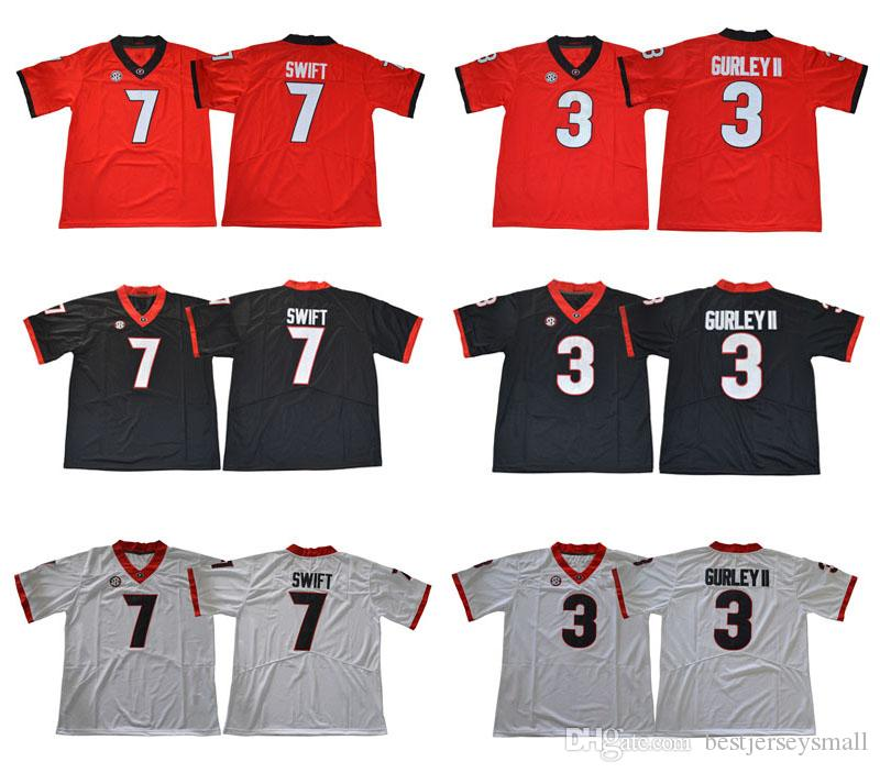 4c4fb81fa Georgia Bulldogs 3 Todd Gurley II 7 D Andre Swift 10 Jacob Eason 11 Jake  Fromm 27 Nick Chubb 34 Herschel Walker Diamond College Jerseys Online with  ...