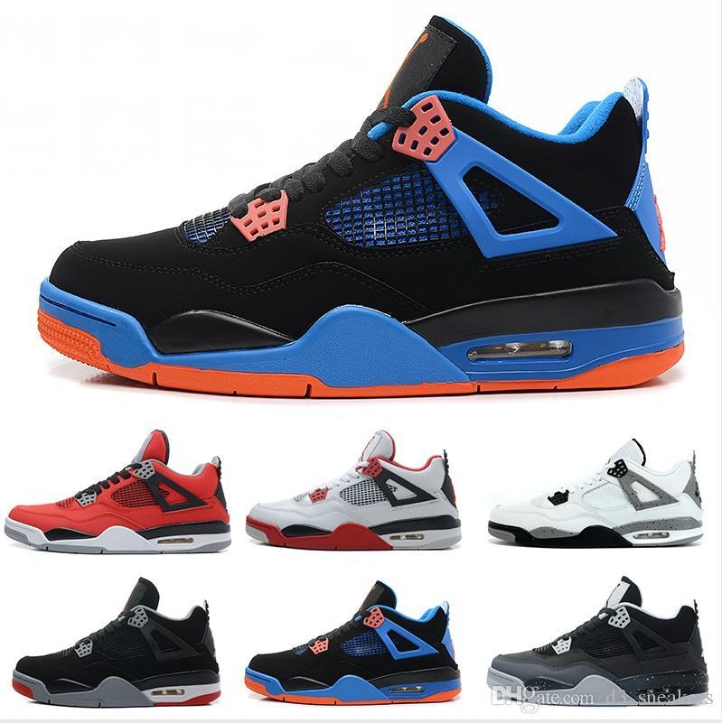 9f9de1d9378 Acheter Nike Air Jordan 4 Retro Basketball shoes En Gros Pas Non Slip  Caoutchouc Net Cuir Couture Mode 4 S Chaussures Nouveau Style Pas Cher  Chaussures ...