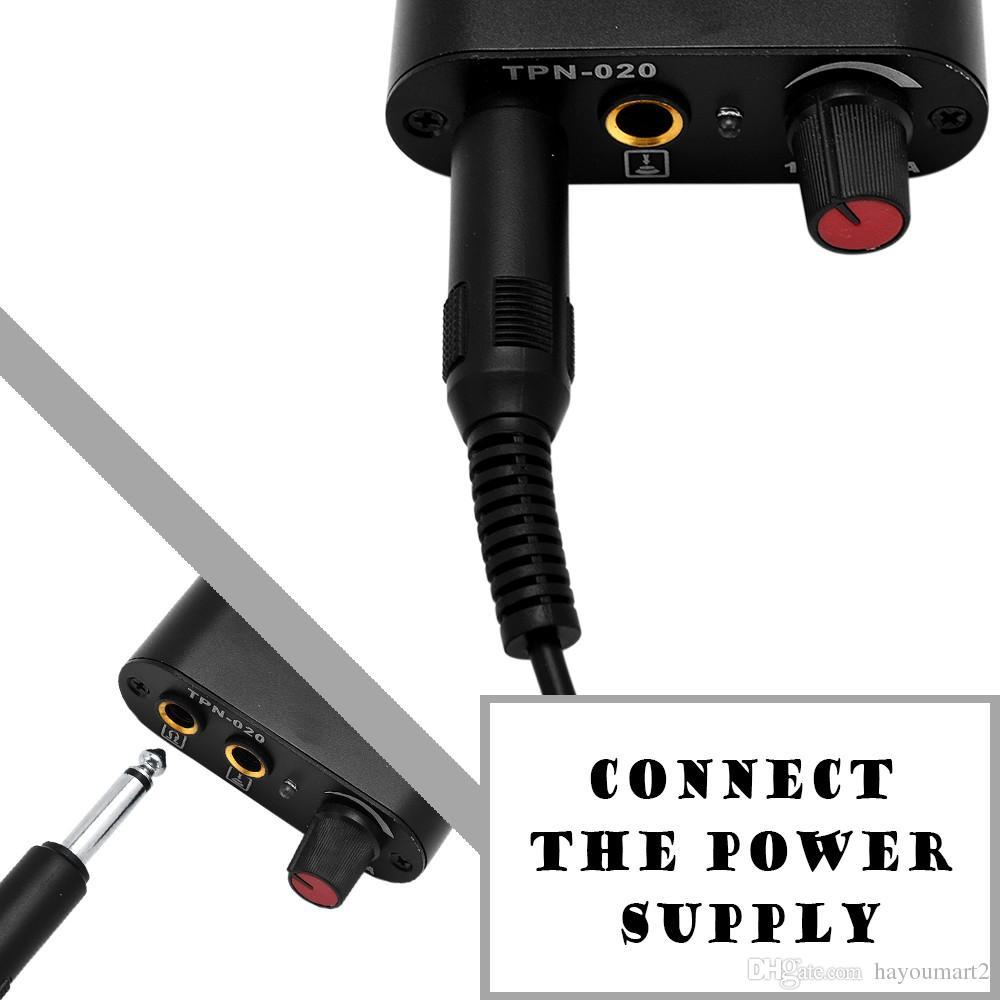 Siyah Dövme Güç Kaynağı Klip Kordon Kablo Dövme Makinesi Set Setleri için Rotary Dövme Makineleri için