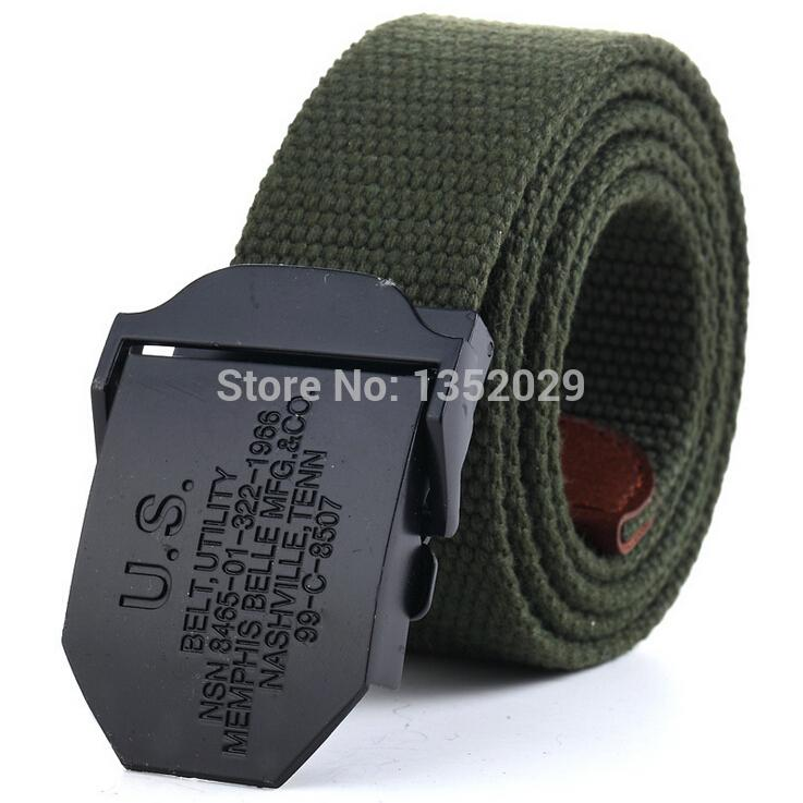 Men's Belts Military Canvas Belt for men weave buckle jeans casual wild belt automatically 2016