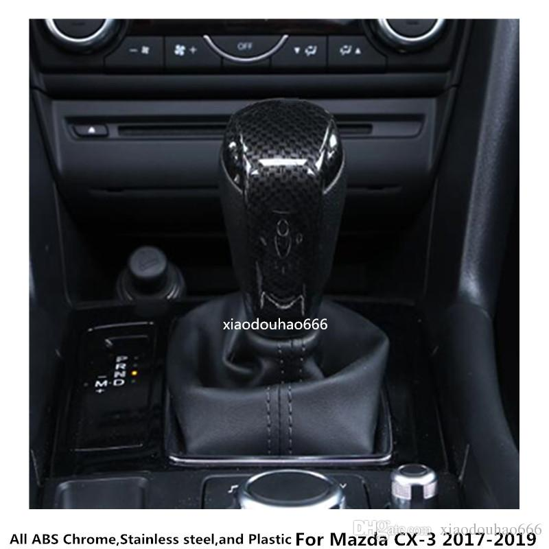 high quality For Mazda CX-3 CX3 2017 2018 2019 car styling body Head Sequin  Trim ABS Chrome Gear Cover Shift knob control lamp frame 1pcs