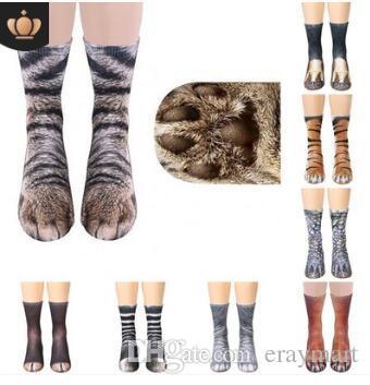 Supply New Funny Socks 3d Paw Printed Animal Socks Women Cat Zebra Leopard Panda Paw Long Cotton Socks For Women Men Unisex In Many Styles Underwear & Sleepwears