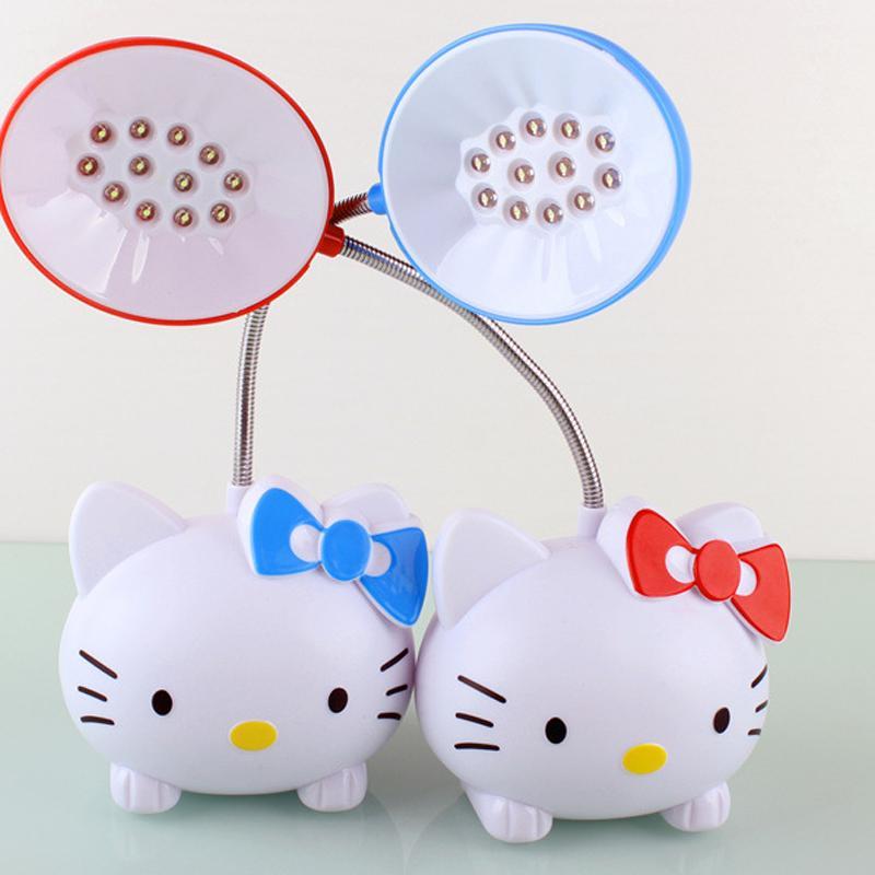 Cartoon Bureau Pour Chevet De Pliante Enfants Luz80619 Table Cadeau Mesa Apprentissage Bonjour Lampe Charge Flexible Lecture Kitty D9WHYI2E