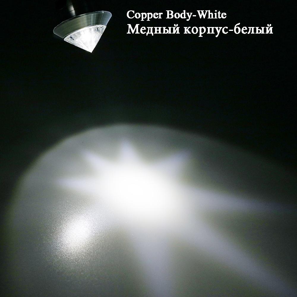 CHINCOLOR Mini Spot Luz Cristal Diamante Armário Downlights LED Lâmpada do Teto 110 V 220 V Jóias Display Room Decor Branco quente R