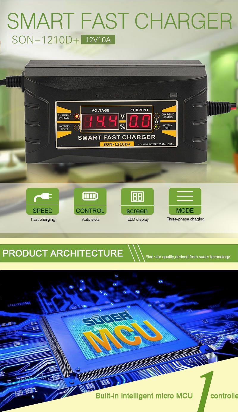 Caricabatteria auto completamente automatico 110V / 220V a 12V 6A 10A Smart Fast Power Ricarica Wet Dry piombo LCD LCD digitale