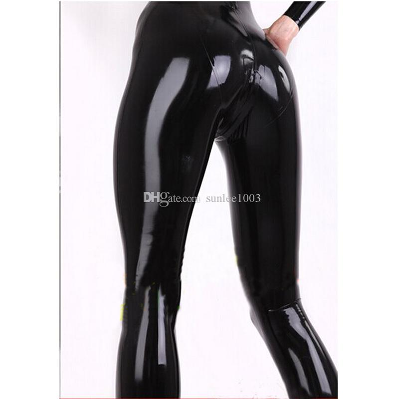 2018 New hot sale handmade female women Latex Sexy Catsuits with Three-way zipper from the neck to the front abdomen corset full Suit Fetish