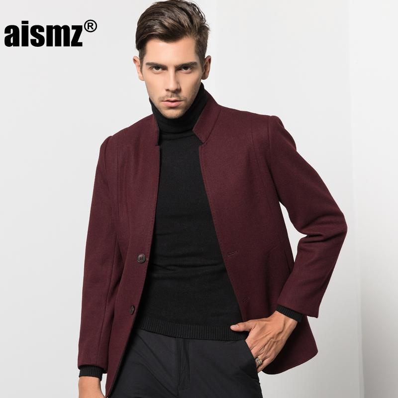 46fe5b8915 Großhandel Aismz Fashion Men Winter Warm Wollmantel Mantel Stehkragen Slim  Fit Business Casual Einreiher Wolljacke N8102 Von Elizabethy, $105.12 Auf  De.