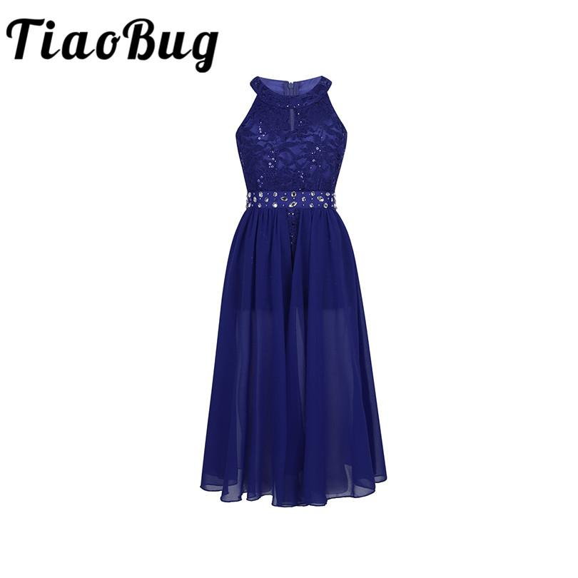 150f139f7122 Wholesale Girls Sleeveless Floral Lace Rhinestone Maxi Dress For Pageant School  Dance Birthday Party Kids First Communion Dress Flower Girl Dresses Under  50 ...